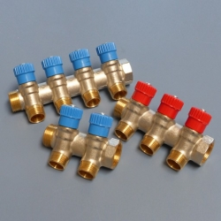 Brass manifolds with red or blue taps